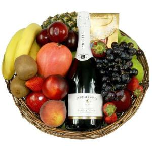 sparkling wine fruit basket